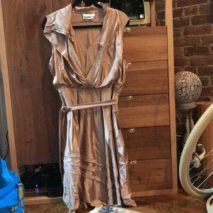 Altuzarra FW11 Viscose Blush Dress with Raw Edges
